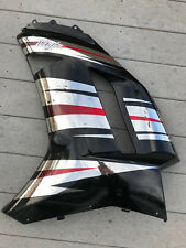 Kawasaki ZX6-R Fairing Panel L/H OEM , 2007-08  Black & Chrome P/N 55053-5095
