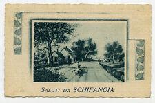 * SALUTI SA SCHIFANOIA ( Comune di Narni - TR ) * Viaggiata Anno 1940