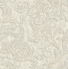 2,62€//1qm Vliestapete Barock Glanz AS Creation Memory creme silber 32984-1