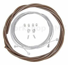 Bicycle 5mm LINED vintage ROAD bike brake cable housing kit  - CHOCOLATE BROWN