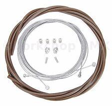 Bicycle 5mm LINED vintage ROAD bike brake cable housing kit  - CHOCOLATE BROWN