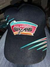VINTAGE 80s/90s San Antonio Spurs Classic Logo Snap Back Cap Hat Official NBA