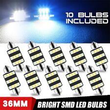 10X 36mm Festoon LED Bulb 12SMD Interior Map Dome License Plate Light Blue&White