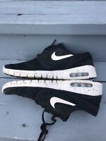 Nike SB Air Stefan Janoski Max Leather Suede Black White Speckled 685299 002