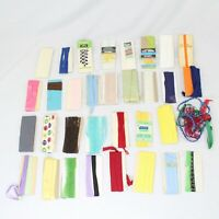 Lot of 32 Vintage Bias Tape and Seam Binding Lace Many Colors and Patterns