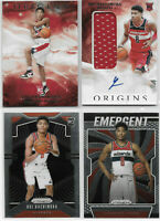 4) Rui Hachimura 2019-20 ORIGINS AUTO PATCH JERSEY RPA SP RC + PRIZM ROOKIE LOT