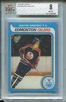 1979 Topps Hockey #18 Wayne Gretzky Rookie Card RC Graded BVG NM Mint 8 '79
