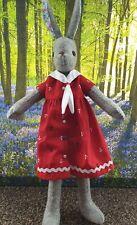 Luna Lapin Delightful Sailor Dress handmade From 100% Cotton anchor Print Fabric