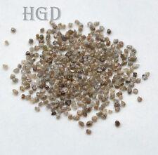 5crts+ DARK BROWN 1.50mm Loose Rough Diamonds  100% NATURAL UNCUT £14.99 !