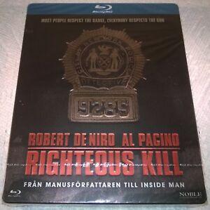 Righteous Kill (2010, Sweden, Region Free) Debossed Steelbook NEW