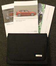GENUINE AUDI A3 SPORTBACK 2008-2012 HANDBOOK OWNERS MANUAL WALLET AUDIO A-671