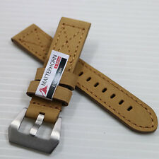 NEW ! ! 22MM MATTERHORN GENUINE LEATHER WATCH BAND/STRAP HIGH QUALITY FOR MEN