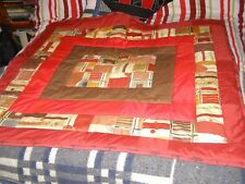 HANDMADE TRADITIONAL PATCHWORK QUILT LAP CHAIR QUILT