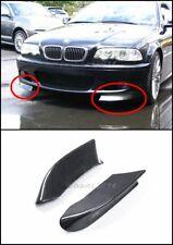 Carbon Fiber Kit Fit For 98-05 BMW E46 M-tech II Front Bumper CSL Style Canard