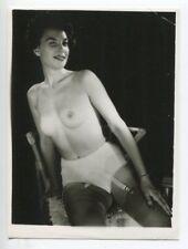 Mature Female Panties Hot Ripe Breasts 1950 Original Nude Pinup Photo  B4471