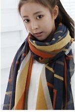 Navy Wave Pattern Lady Women Fashion Stylish Soft Scarf Shawl  Headscarf Stole