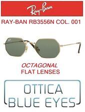 Occhiali da sole RAYBAN RB3556N 001 OCTAGONAL FLAT LENSES Sunglasses Ray Ban