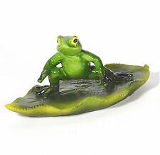 Schwimmkugel Frosch auf Surfbrett Garten Teich  Deko Schwimmfrosch Miniteich