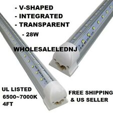 5 Qty Gas Station LED Cooler Tube Lights - 4ft Integrated T8 - 28 Watt 6500K
