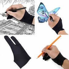Black Men Artist Drawing Graphic Two Finger Glove Tablet Draw Anti-fouling Stain