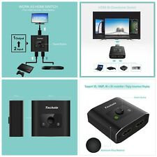 HDMI Splitter 1 Output 2 Input Extension Cable Switch Switcher High Resolution