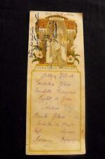 Menu ancien Champagne Mercier  Elisabeth Sonrel Hiver  manuscrit militaire BCA