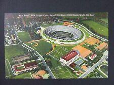 New Haven Connecticut Yale Bowl Football Stadium Curt Teich Linen Postcard 1943
