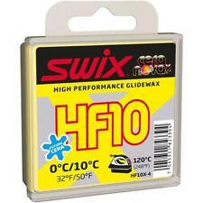 Swix HF10X yellow, 0°C/10°C, 40g - Wax