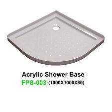 NEW Acrylic Shower Base SANYC FPS-003 1000*1000*80 2 Lip Tile Flange Acrylic