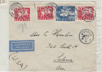 Sweden To USA 1937 Stamps Cover Ref: R7963