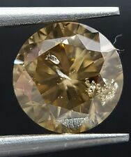 1.70 Carat Natural Brown Champagne Round Diamond Loose For Ring Best Price Deal
