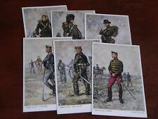 ORIGINAL SET OF SIX WAGEMANS SIGNED MILITARY POSTCARDS - BELGIUM SOLDIERS.