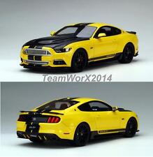 GT SPIRIT 2015 FORD SHELBY MUSTANG YELLOW RESIN MODEL CAR 1:18 US002