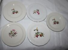 "Vintage Homer Laughlin Delco China Hummingbird Bird Plates Saucers 5 3/4""-6 1/4"""