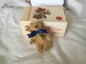 Gorgeous Miniature HERMANN Teddy Bear Boxed Jointed Danny