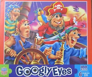 Kids Master Pieces Googly Eyes Pirates Jigsaw Puzzle 100pc