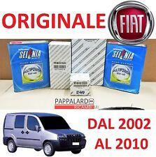 KIT TAGLIANDO FILTRI ORIGINALI +OLIO SELENIA FIAT DOBLO 1.6 NATURAL POWER METANO