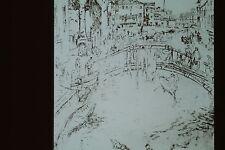 J M WHISTLER- VENICE SET-BRIDGE ETCHING 35MM ART SLIDE