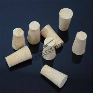 5pcs New Unused Taper Natural Corks Stopper for 16-25MM Bottle