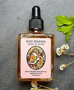 Organic Rosehip Oil With Rose Otto Essential Oil. Antiaging Facial Serum
