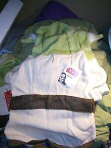 Petco Star Wars Yoda Large Dog Hoodie Sweater Knit Fleece Sweatshirt New Costume