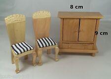 lot meubles en bois miniature,maison de poupée,vitrine, meuble  ** B10