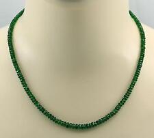 Chromdiopsidkette grüner Chrom-Diopsid aus Russland Halskette für Damen 49 cm