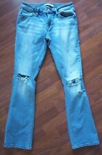 Womens Daytrip Refined Jeans Size 27R Lynx Kick Boot Light Distressed W/Holes