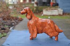 Irish Setter .Handsculpted ceramic ! Ooak .Look!