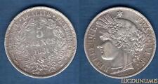 II République 1848 - 1852 - 5 Francs Cérès (2) 1851 A Paris - TTB