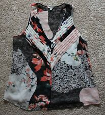 NEW Guess Womens beautiful colourful sleeveless top SIZE XL
