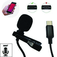 Mini Portable Android Type C USB Microphone Clip Lapel Microphone Video Record