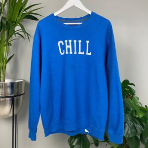 Blue Spellout Sweatshirt - Chill