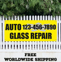 Banner Vinyl Auto Glass Repair Advertising Flag Sign Oil Change AC Service Car